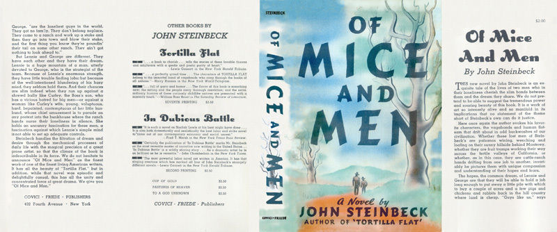 journal on john steinbeck of mice You probably spent some time as a teenager reading john steinbeck's novella of mice and men at 23, he started his own chicken trade journal.