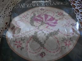 Wonder Art 5911 Morning Glory Candle Wick Stitchery Hoop Kit - $8.00