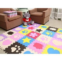An item in the Baby category: E Support™ 24PCS Kids Soft Safety Interlock Foam Crawling Mat Play Floo...