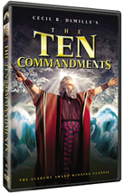 THE TEN COMMANDMENTS Starring Charlton Heston - Standard + Blu-ray DVD