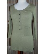 LACOSTE WOMEN'S COTTON T-SHIRT TOP SHIRT - Size 38/Medium Green - 3/4 SL... - $18.80