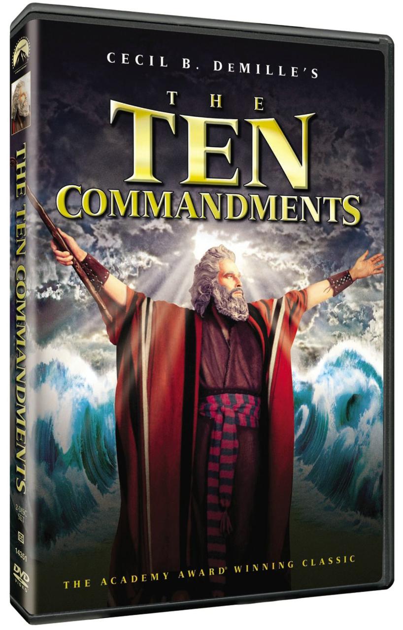 The ten commandments starring charlton heston   dvd