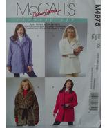 Pattern 4975 Hooded or Lapeled Jacket sz Sm-Lg - $6.99