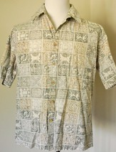Cooke Street Honolulu MENS Size XLarge XL 100% Cotton CAMP HAWAIIAN Butt... - $19.78