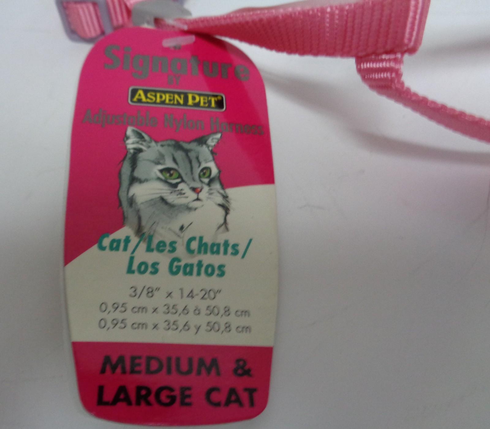 Pink Medium Large Cat Harness NWT Aspen Pet Adjustable