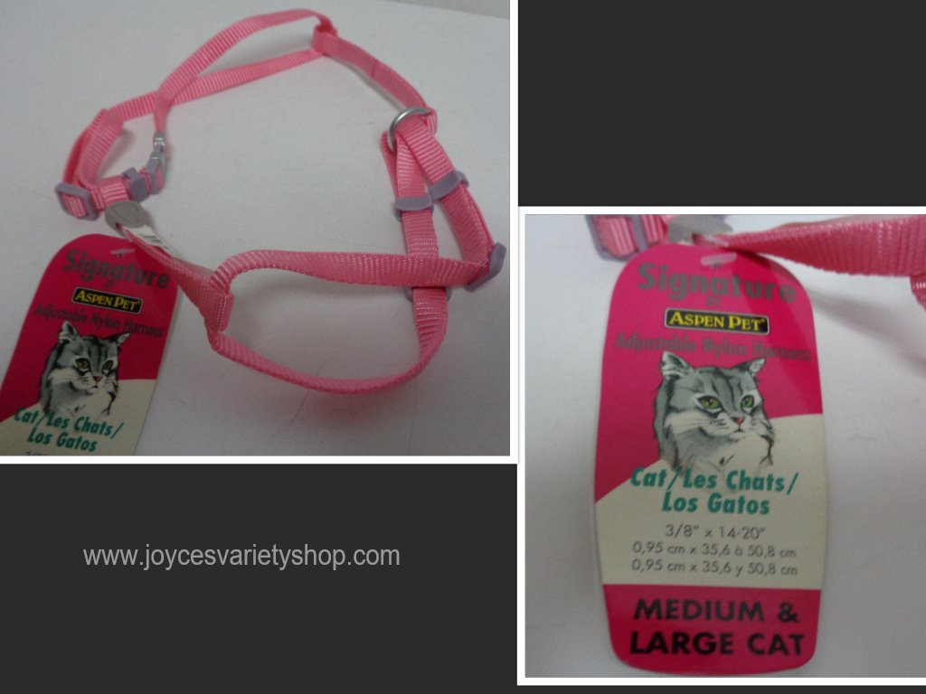 Pink cat harness collage
