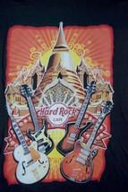 Hard Rock Cafe Guitars BANGKOK City Tee Black SS T-Shirt Adult Men's Size Small - $49.49