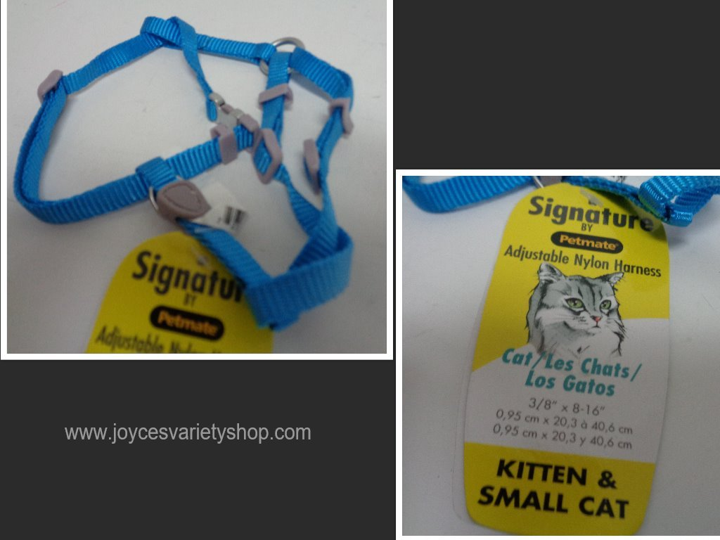 Blue small cat harness collage