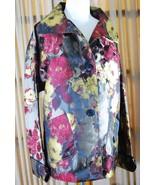 UBU Pack Your Personality Womens Fashion Coat Jacket Size M Medium roses... - $59.39