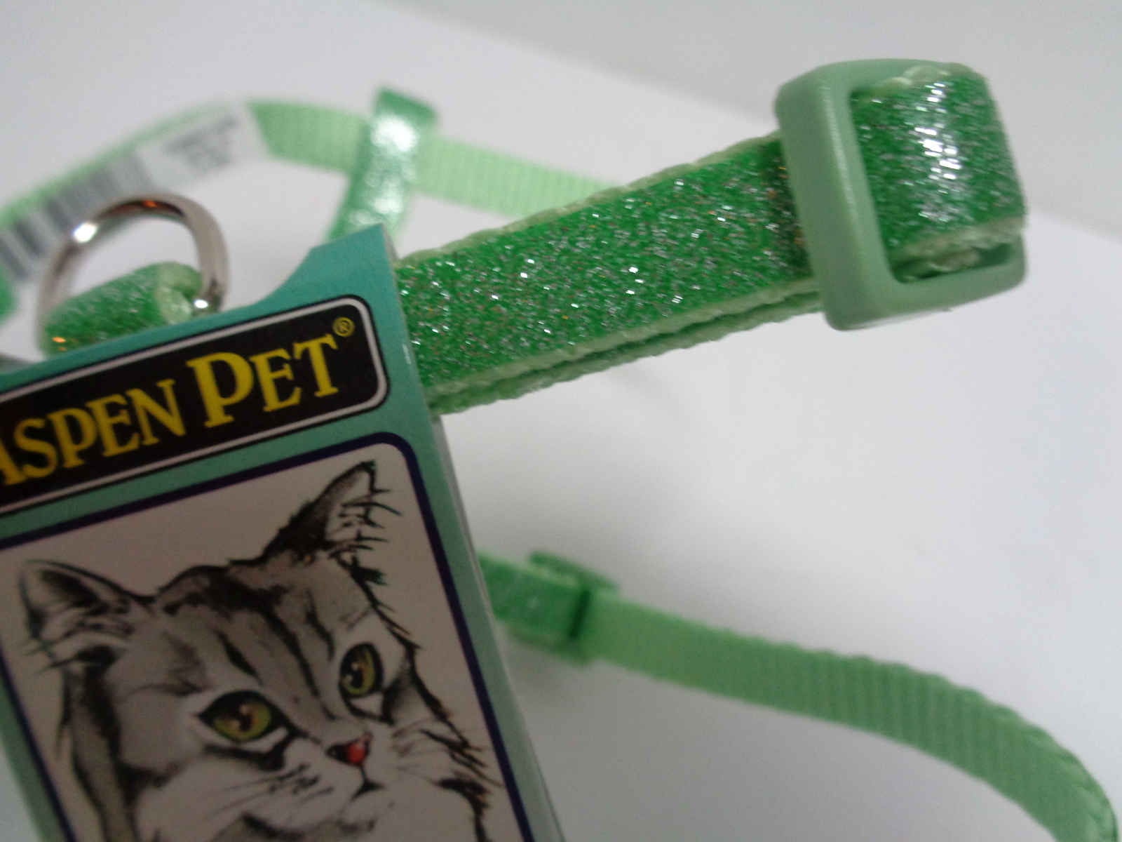 "Neon Green Cat Harness NWT Aspen Pet 8"" to 16"" Adjustable"