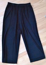 Chico's Travelers Crop Capri Pants WIDE LEG Black Chicos Size 1 (Misses ... - $34.16