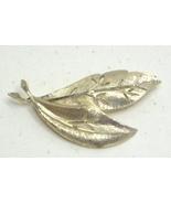 Vintage Brushed Gold Tone Open Work BSK Pin Brooch - $11.99