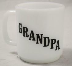 "Vintage ""Grandpa"" Grandfather Coffee Mug White Milk Glass Glasbake - $9.89"