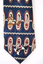 LOONEY TUNES Men's Neck Tie Navy Paisley - Bug Bunny Taz Sylvester Coyote Daffy - $12.86