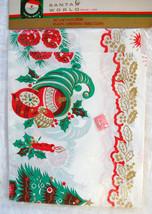 "NEW! NIP Santas World PLASTIC CHRISTMAS 90"" x 48"" TABLE CLOTH Tree Ornam... - $24.74"