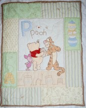 WINNIE THE POOH - BABY BLANKET - P IS FOR POOH - CRIB QUILT BEDDING - $55.83 CAD