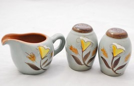 Stangl Pottery Golden Harvest Small Creamer SALT & PEPPER Set! Gray Mid ... - $39.59