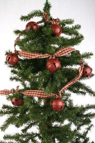 f6b1f48d2089e S l1600. S l1600. Previous. NEW! Country Primitive Burgundy Red Sleigh Bells  Christmas Garland Craft Gingham