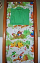 Doorway Puppet Theater Homemade - Sesame Street Vintage Bed Sheet - Tens... - $49.48