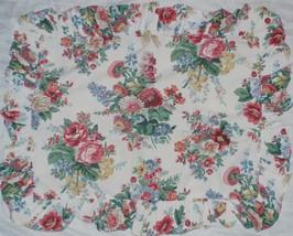RALPH LAUREN Elaine Floral Ruffled Standard Pillow Sham - White/Pink Floral - $29.69