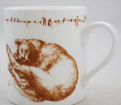 The Royal Collection LEONARDO DA VINCI Coffee Mug - Cat Sketchbook Drawings - £36.68 GBP