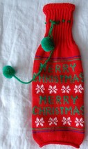 """Merry CHRISTMAS"" WINE BOTTLE UGLY KNIT SWEATER Holiday Gift Wrap - $14.84"