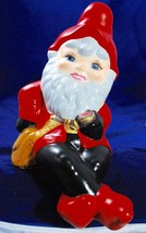 Garden Gnome Ceramic Elf Shelf Sitter Vintage Figurine - Hand Painted wi... - $34.64