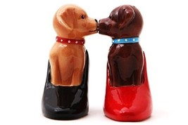 Puppies in Pumps Attractives Salt Pepper Shaker Made of Ceramic - $10.10