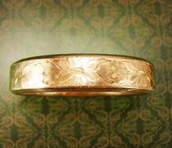 Antique Victorian 1908 bracelet Rose gold filled Signed Heart arrow  wed... - $275.00