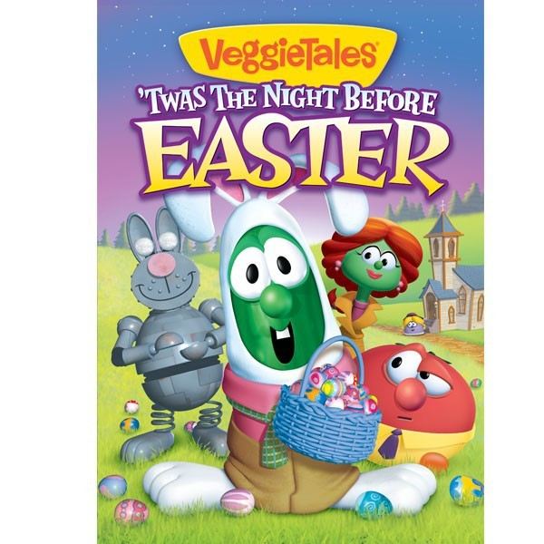 Twas the night before easter   dvd by veggie tales