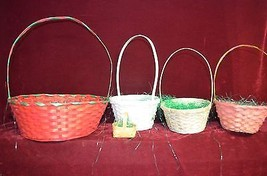 5 colorful Easter baskets of different sizes 1 ... - $4.95