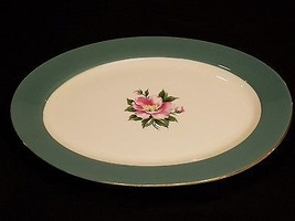 "Vintage 16"" Homer Laughlin Century Service Empire Green Oval Serving Pla... - $27.23"