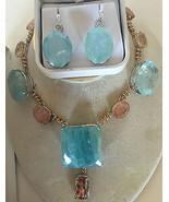 New Custom Huge Natural 76.5+ ct Aquamarine diamond 14k gold & SS drop earrings - $7,599.99