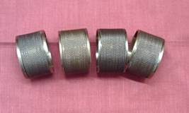 Vintage Set of Four Wire Wrapped Brass Napkin Rings Simple Elegance - $10.50