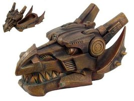 Steampunk Collection- Dragon Head Jewelry Tinket Box - $42.77
