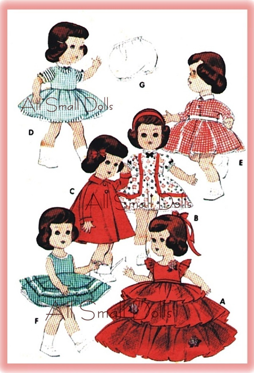 "Vintage Pattern for 11"" Dolls Like Littlest Angel"