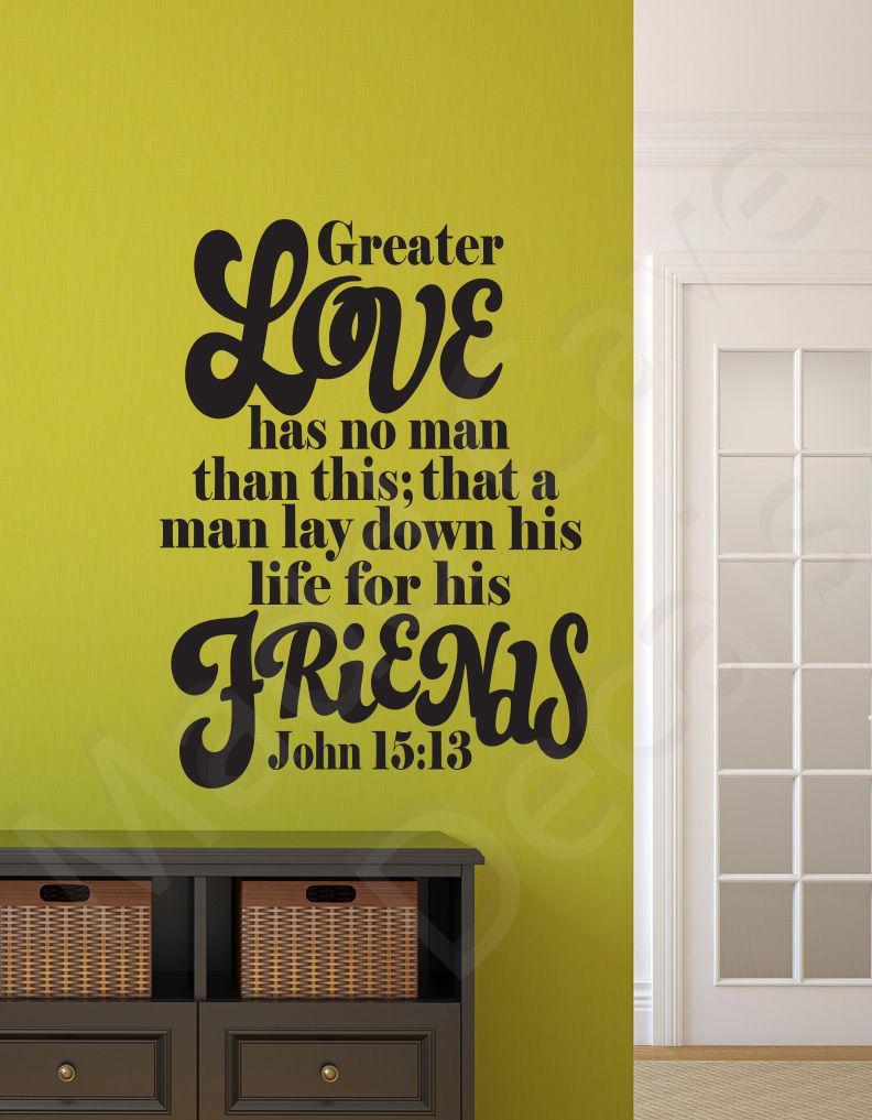 Greater Love Has No Man John 15:13 Christian and 50 similar items