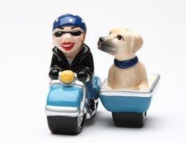 Magnetic Salt and Pepper Shaker - Dog Gone Side Car - $15.39