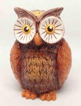 Tropical Owl Money Bank 6'h Ceramic Figurine World Cutest Saving - $24.74