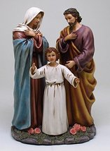 9 Inch Holy Family with Young Jesus Religious Resin Statue Figurine - $42.08