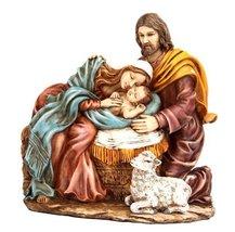 7.5 Inch Nativity Holy Family Scene Religious Resin Statue Figurine - £28.60 GBP