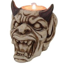 PTC Pacific Giftware Devil with Horns Hand Painted Resin Candle Holder, ... - $9.17