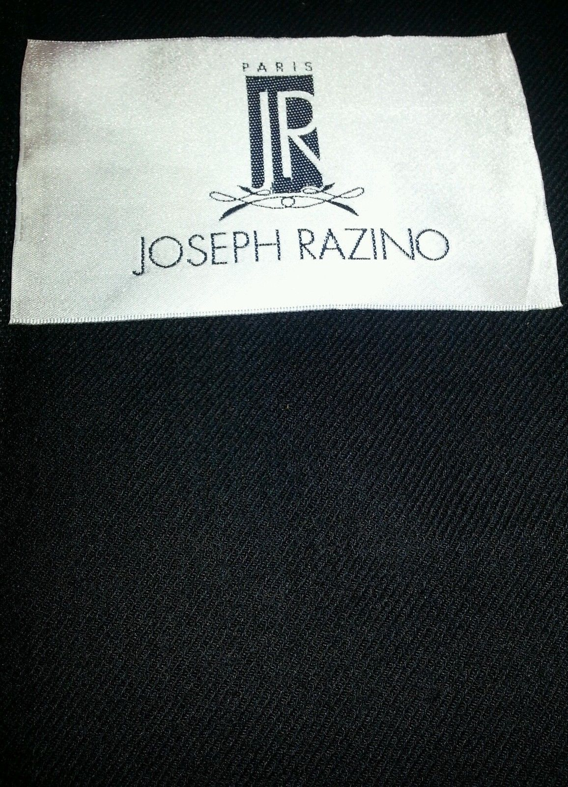 Black Twill  Full Weight Wool Suiting Fabric   By The Yard   MSRP $695