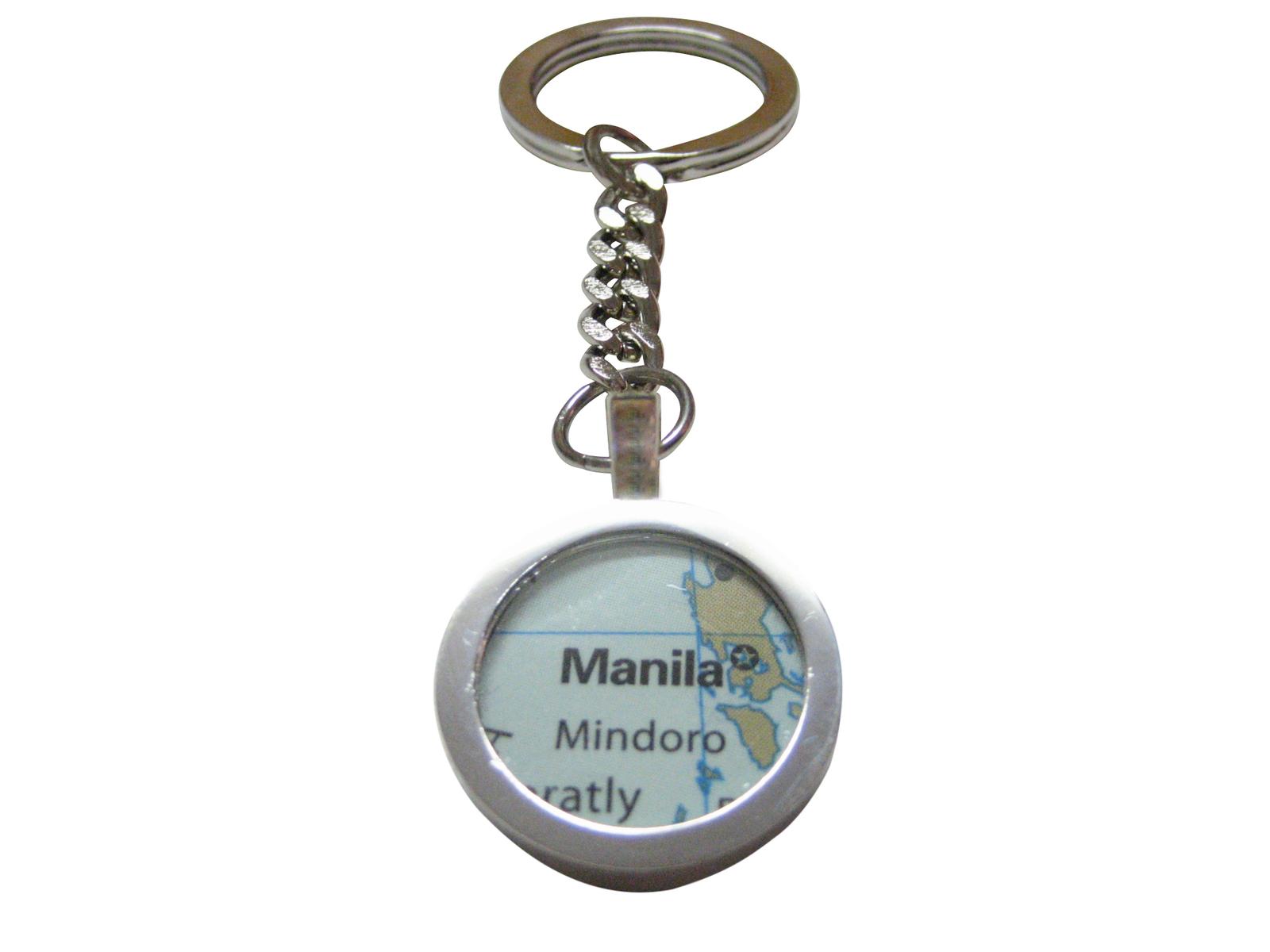 manila philippines map pendant key chain jewelry s