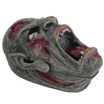PTC Pacific Giftware Screaming Zombie Skull Jewelry/Trinket Box with Lid Figurin - $22.27