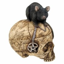 PTC Pacific Giftware Salem Witch Witchcraft Skull with Pentagram Pentacle Mouse  - $31.19