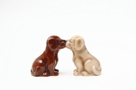 Magnetic Salt and Pepper Shaker - Blonde & Chocolate Laborador Puppies - $12.86