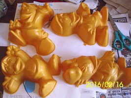 1989 Walt Disney Collectible Duck Tales Jello Candy Molds Huey Dewey Lou... - $19.59