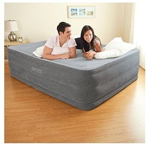 Queen Airbed Mattress Rest Elevated Bed Camping Inflatable Overnight Pum... - ₨6,641.70 INR