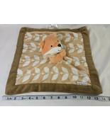 Carters Orange Fox Brown Leaf Lovey Security Blanket Stuffed Animal Toy - $29.95